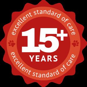 Fifteen years crest